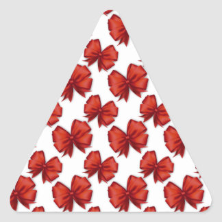 Christmas Bows Triangle Sticker