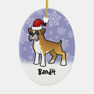 Christmas Boxer (add your pets name) Christmas Ornament