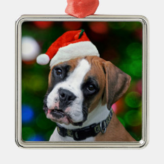 Christmas Boxer Christmas Ornament