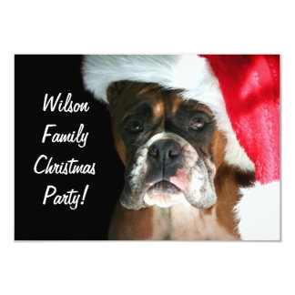 Christmas Boxer Dog 9 Cm X 13 Cm Invitation Card