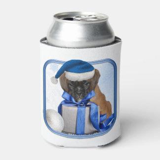 Christmas Boxer dog can cooler