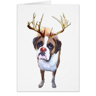 Christmas Boxer Dog Card