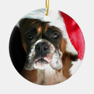 Christmas Boxer Dog Christmas Ornament