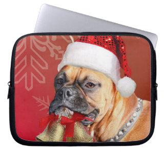 Christmas Boxer dog Computer Sleeves