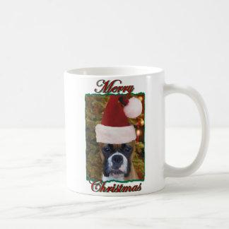 Christmas boxer dog mug