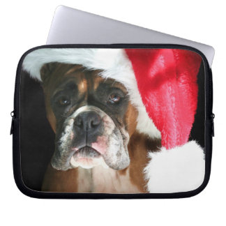 Christmas Boxer dog Neoprene Laptop Sleeve