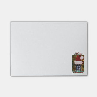 Christmas Boxer dog Post-it Notes