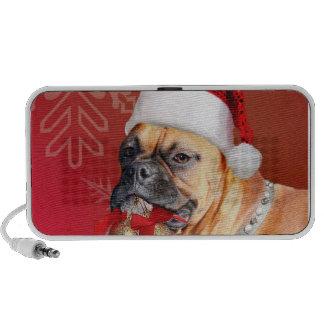 Christmas Boxer dog Notebook Speaker
