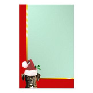 Christmas boxer dog stationary stationery