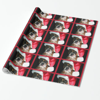 Christmas Boxer dog wrapping paper