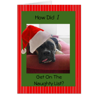 Christmas Boxer Greeting Card