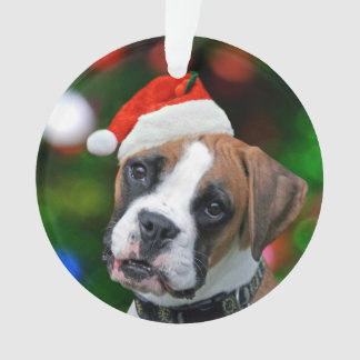 Christmas Boxer Ornament