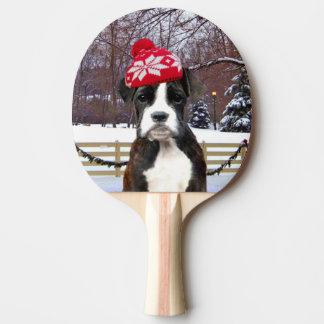 Christmas Boxer puppy dog