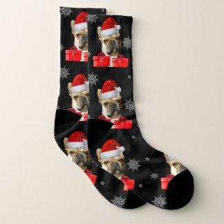 Christmas Boxer puppy dog socks 1