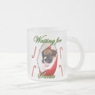 Christmas boxer puppy mug