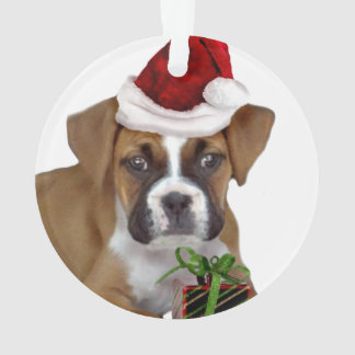 Christmas Boxer puppy Ornament
