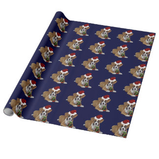 Christmas Boxer puppy Wrapping Paper