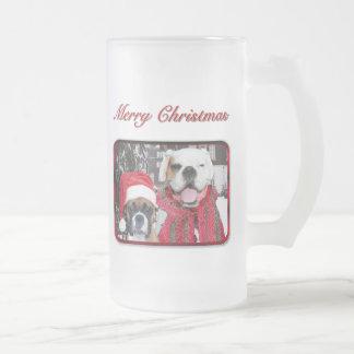 christmas boxers tall frosted mug