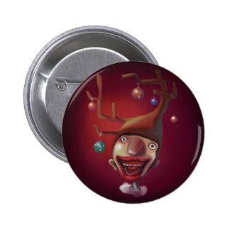 Christmas boy 6 cm round badge