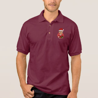 Christmas boy cartoon polo shirt