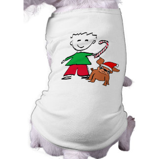 Christmas Boy Pet Shirt