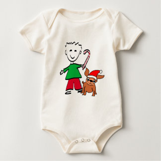 Christmas Boy Infant Creeper