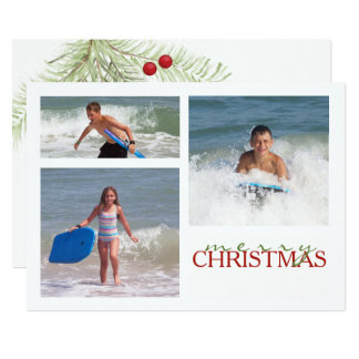 Christmas Branch MULTI Double Sided Photo Card