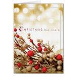 christmas branch with bulbs  holiday card
