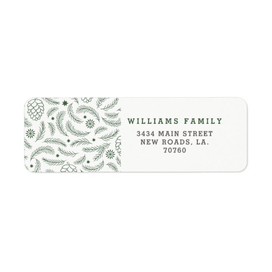 Christmas Branches Return Address Label