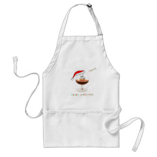 christmas brandy glass character apron