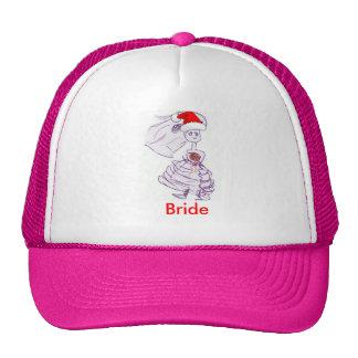 Christmas Bride Mesh Hat