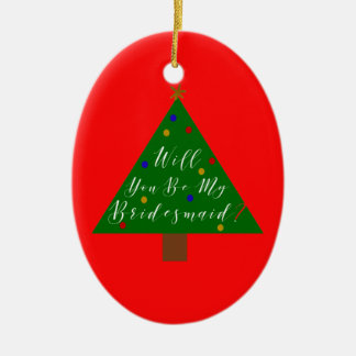 Christmas Bridesmaid Proposal with Photo Christmas Ornament