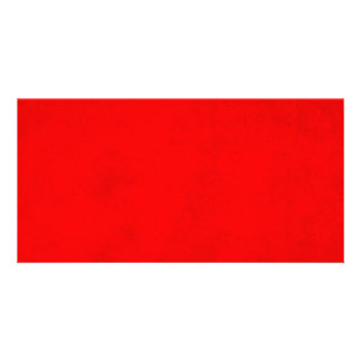 Christmas Bright Red Color Parchment Paper Blank Photo Card Template