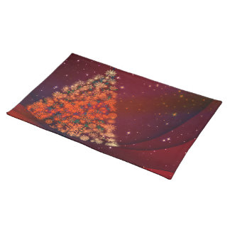 Christmas brilliant tree red placemat