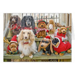 Christmas brings the whole family together greeting card