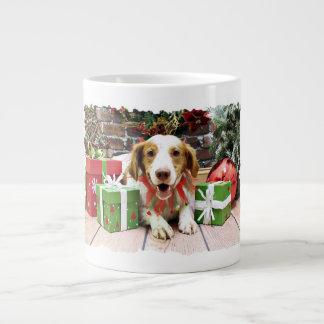Christmas - Brittany Spaniel - Kinnick Jumbo Mug