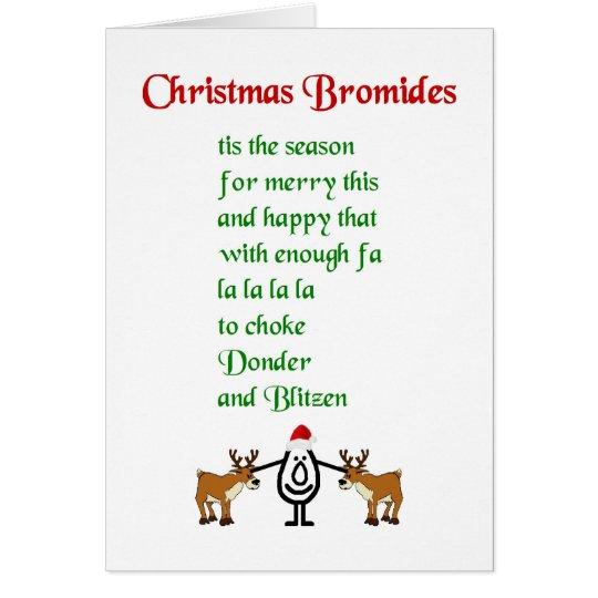 Christmas Bromides - a funny Christmas poem Card