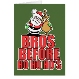 Christmas Bros Santa and Rudolph Card