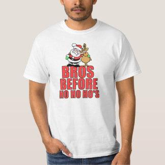 Christmas Bros Santa and Rudolph T Shirts