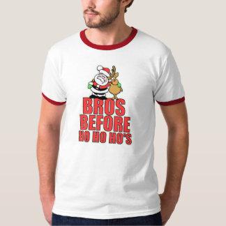 Christmas Bros Santa and Rudolph Tee Shirts