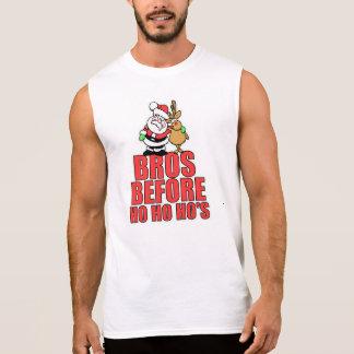 Christmas Bros Santa and Rudolph Sleeveless T-shirts