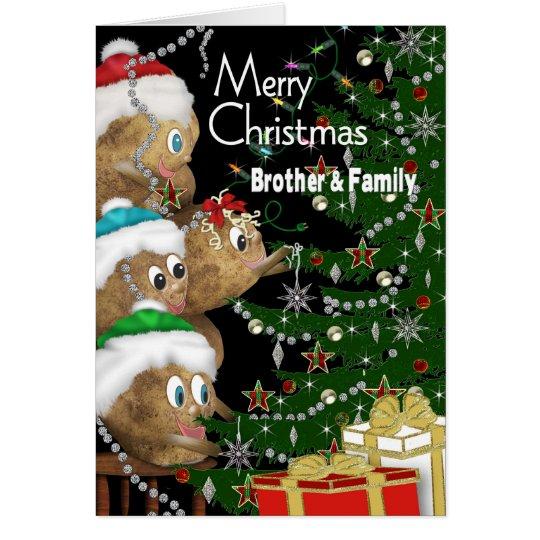 CHRISTMAS - Brother & Family - POTATO FAMILY Card