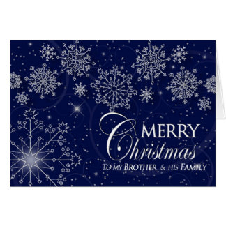 CHRISTMAS - BROTHER & HIS FAMILY GREETING CARD