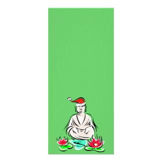 Christmas Buddha drawing Rack Card Template