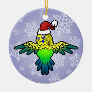 Christmas Budgie Christmas Ornament