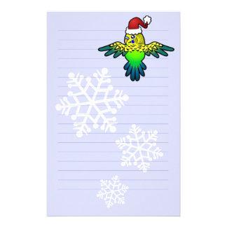 Christmas Budgie Custom Stationery