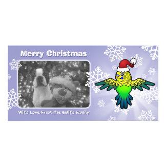 Christmas Budgie Photo Card