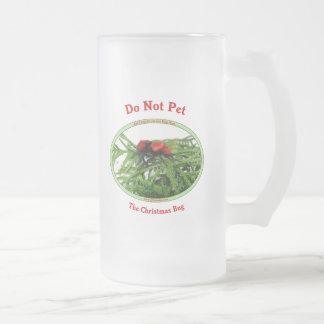 Christmas Bug Cow Killer Wasp Frosted Glass Mug