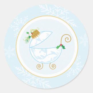 Christmas Bulb Envelope Seal or Favor Sticker