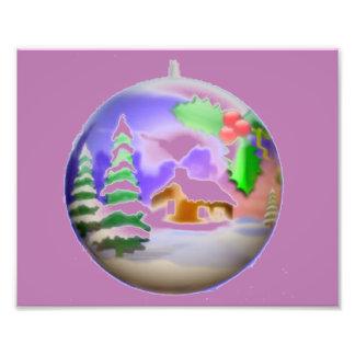 Christmas Bulb Art Photo